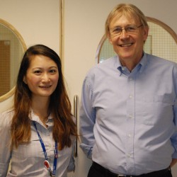 Dr Michelle Chen and patient John Shearn pitched to the Dragons' Den 2013